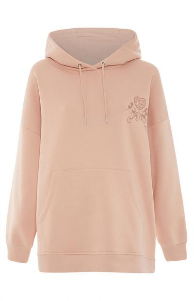Ohlapen marelični pulover s kapuco Disney Mickey Mouse Primark Cares