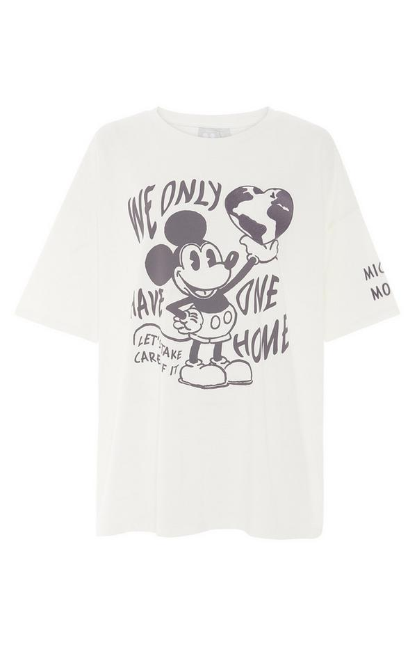 T-shirt blanc oversize One Planet Primark Cares Disney Mickey Mouse