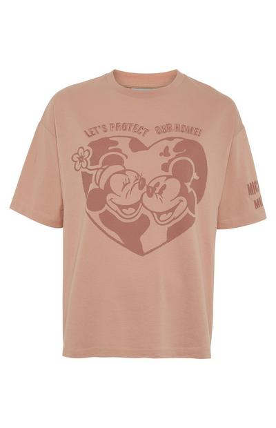 Roze T-shirt Primark Cares met Disney Minnie & Mickey Protect
