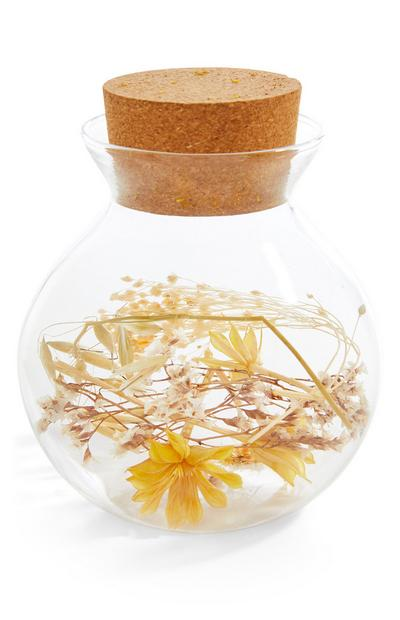 Round Dried Flower Terrarium