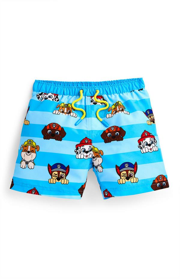 Younger Boy Blue Paw Patrol Swim Shorts