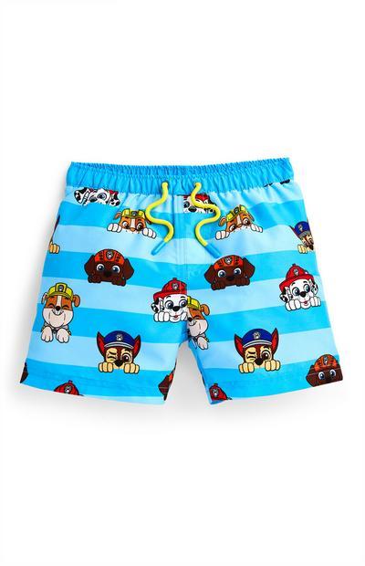 Modre plavalne hlače Tačke na patrulji za mlajše fante