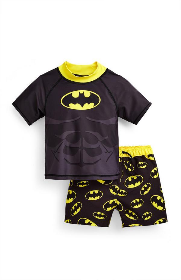 Younger Boy Batman Swim Set
