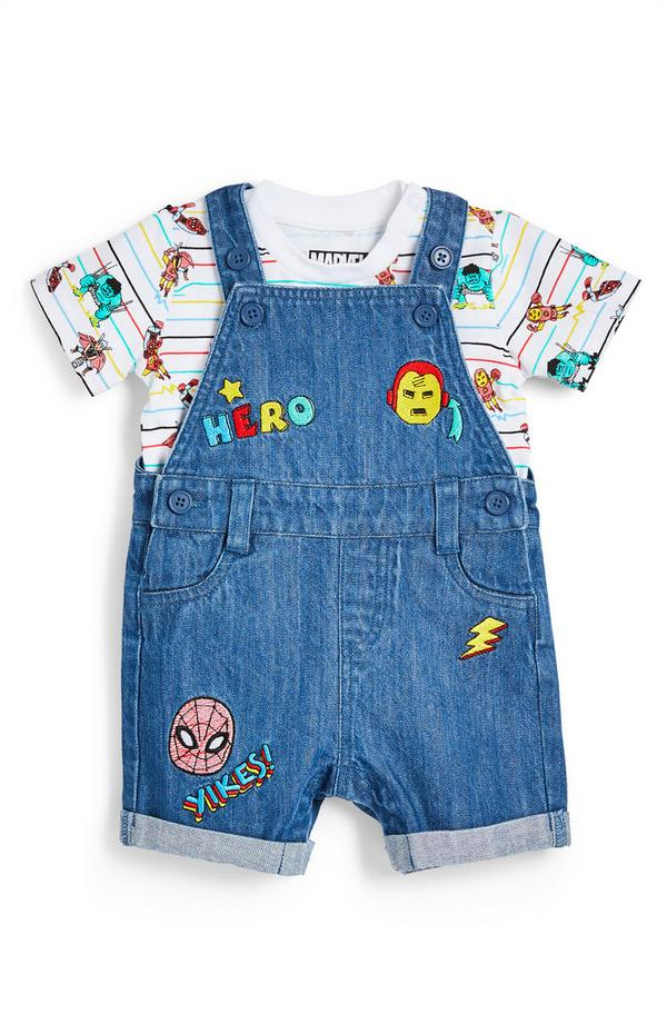 Baby Boy Marvel Avengers Dungarees 2 Piece