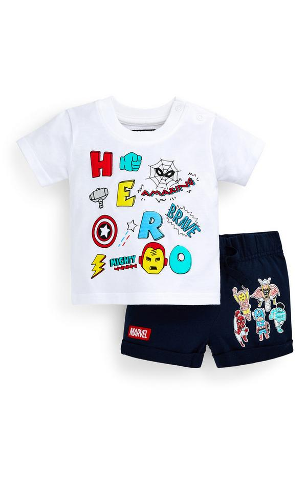 Ensemble t-shirt et short Avengers bébé garçon