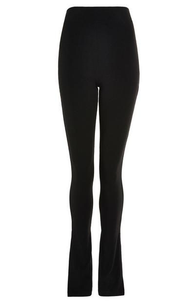 Black Side Split Leggings