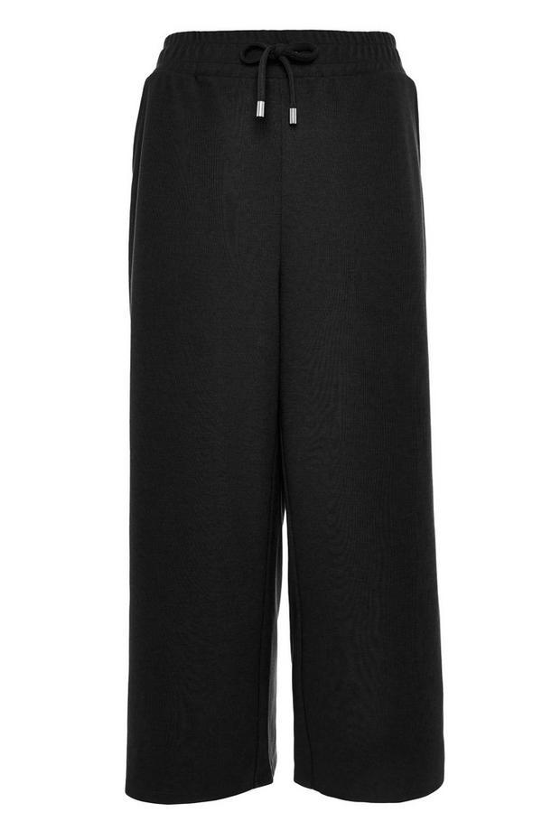 Black Tie Waist Culottes