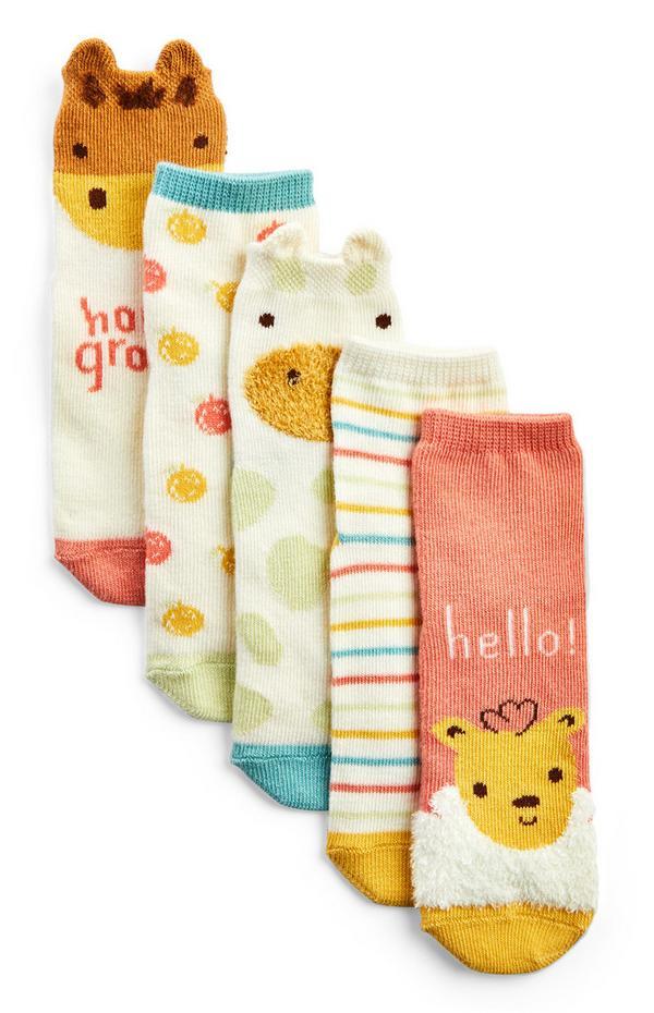 Pack de 5 pares de calcetines de Simple Days para bebé
