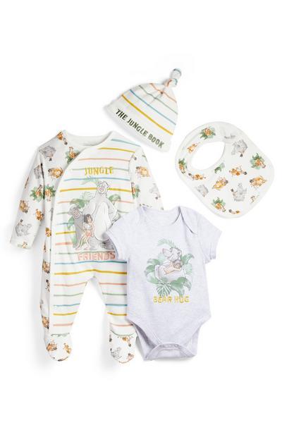 4-delni začetni komplet oblačil za novorojenčke Knjiga o džungli