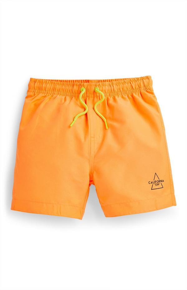 Bañador naranja para niño pequeño