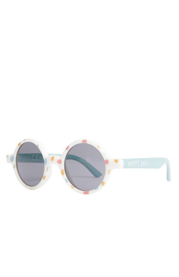 Pikčasta sončna očala za dojenčke Happy Days
