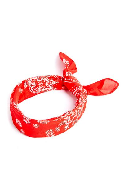 Red Soft Pattern Bandana