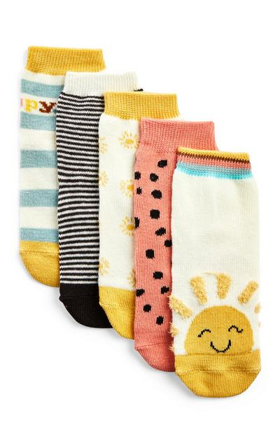 Baby Girl Sunshine Socks 5 Pack
