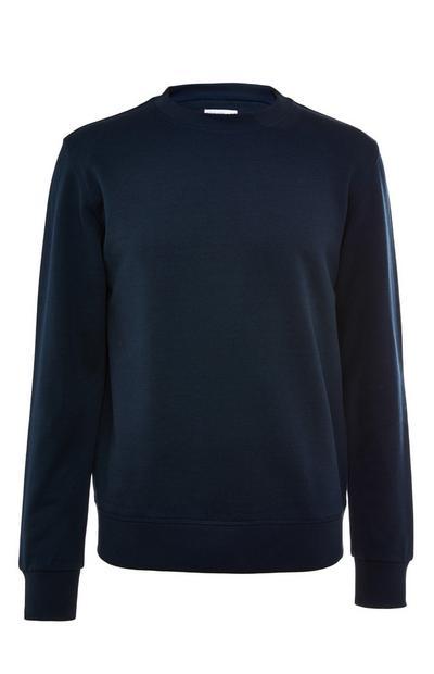 Premium donkerblauwe katoenen sweater