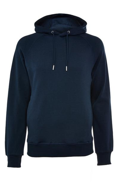 Premium Navy Cotton Pull Over Hoodie