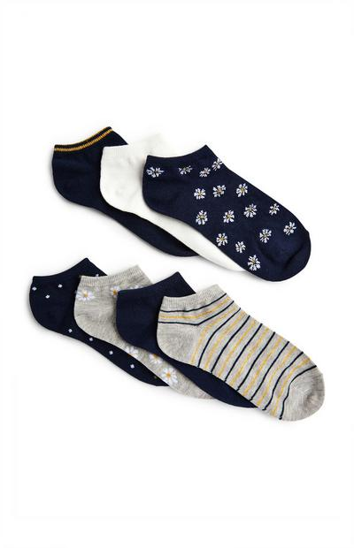 Mixed Pattern Trainer Socks 7 Pack