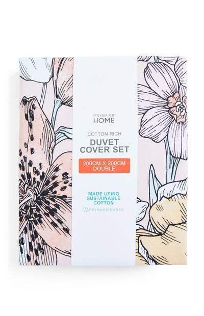 Retro Meadow Double Duvet Cover Set