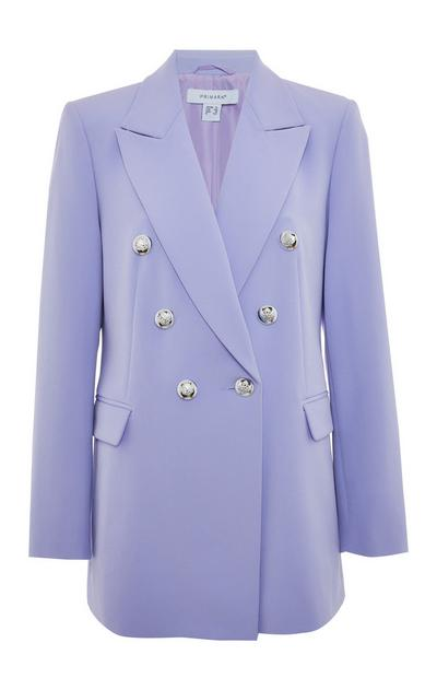 Lilac Double Breasted Power Blazer