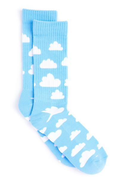 Modre nogavice z oblaki