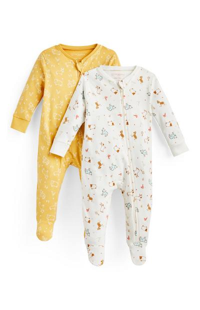Baby Simple Days Organic Sleepsuit 2 Pack