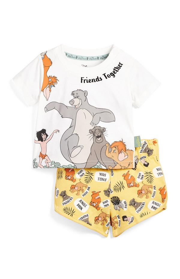 Conjunto de camiseta y pantalones cortos con estampado del Libro de la Selva para bebé