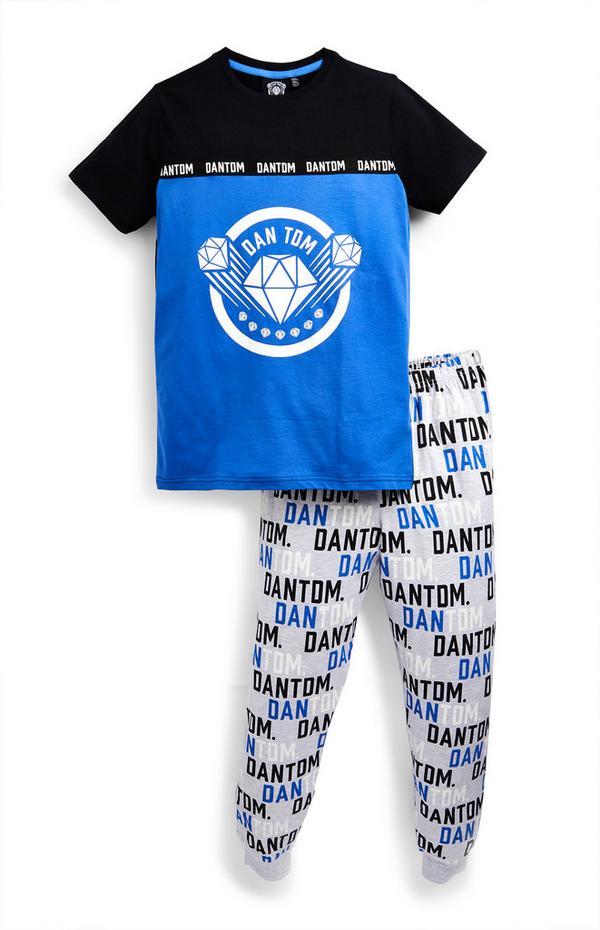 "Blaues ""Dan TDM"" Pyjamaset (Teeny Boys)"