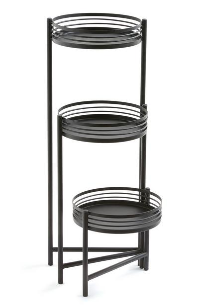 Black 3 Tier Plant Stand