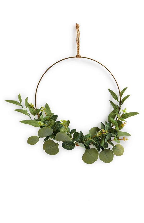 Faux Eucalyptus Greenery Hanging Wreath