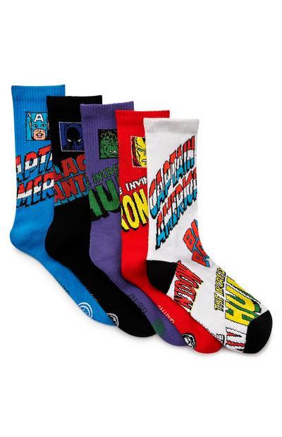 Pack de 5 pares de calcetines para todas las estaciones con estampado de Marvel