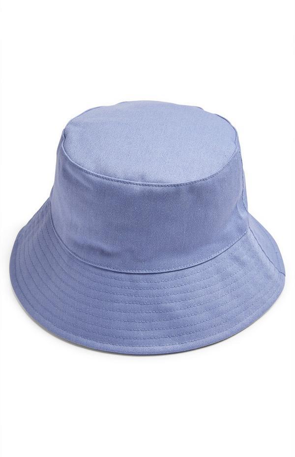Cappello alla pescatora blu in tela