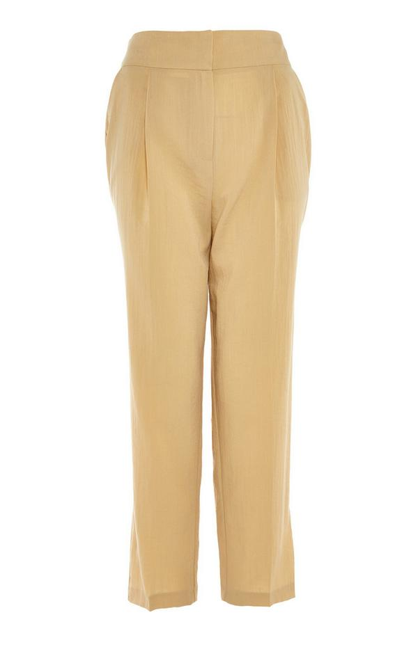 Taupe Occasion Peg Trousers
