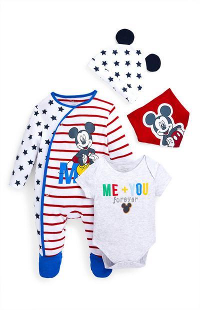 Newborn Baby Boy Disney Mickey Mouse 4-Piece Starter Set