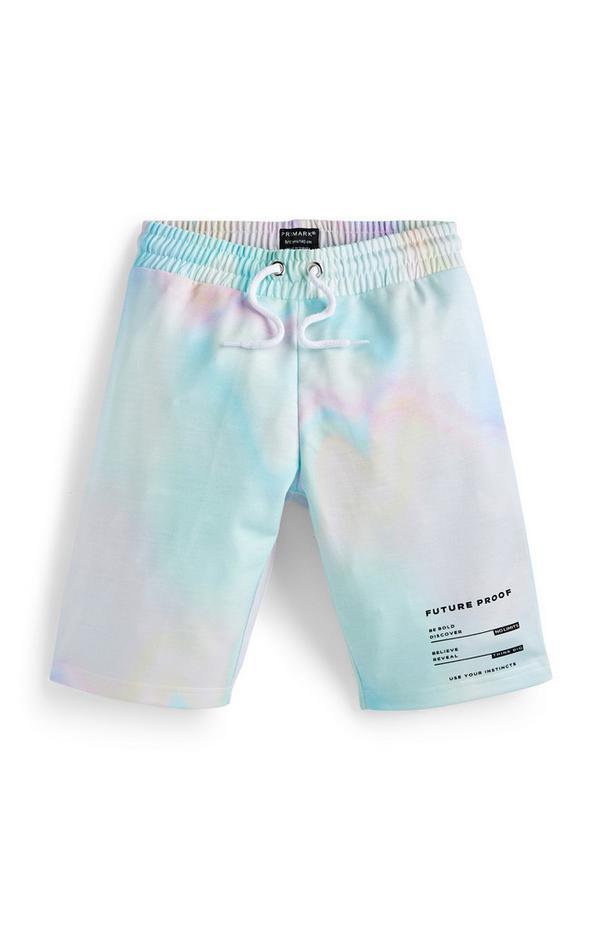 Regenbogenfarbene Batik-Shorts (kleine Jungen)