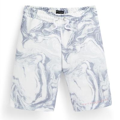 Graue Shorts mit Marmormuster (Teeny Boys)