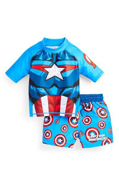 "Blaues ""Captain America"" Badeset (kleine Jungen)"
