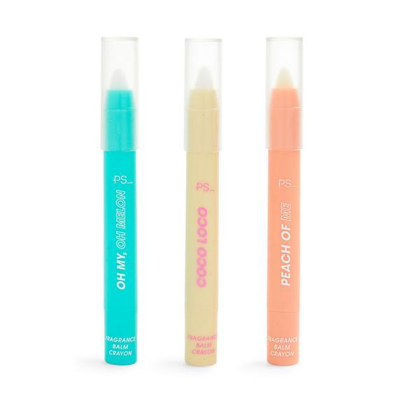Lot de 3 baumes crayons solides parfumés Ps