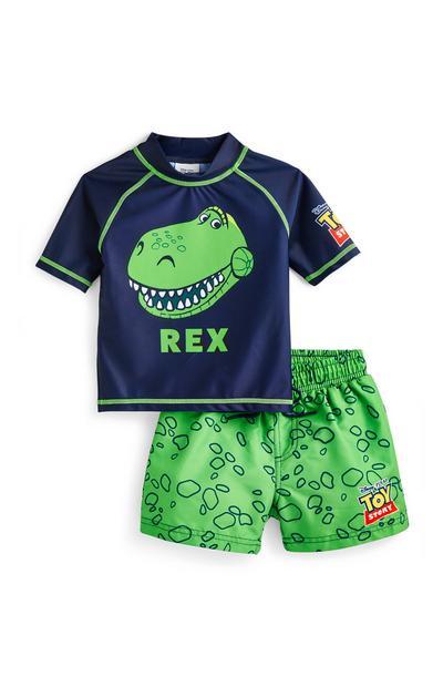 Younger Boy Toy Story Rex Swim Set 2 Piece