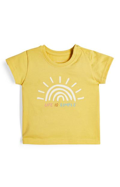 Baby Girl Yellow Sunshine T-Shirt