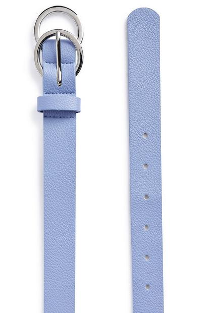 Cornflower Blue Mini Overlapping Infinity Belt