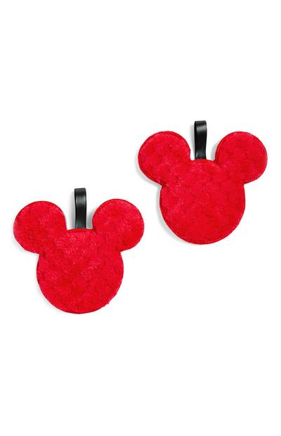 "Rote, gepunktete ""Disney Micky Maus"" Make-up-Pads"