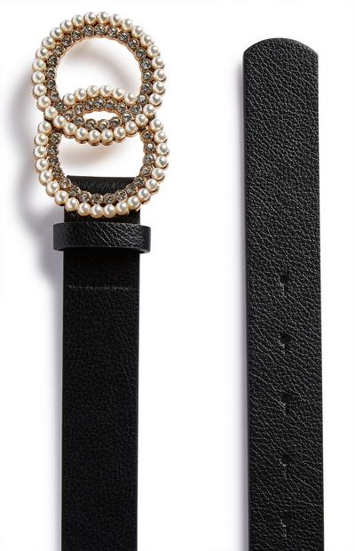 Black Pearl Circle Infinity Belt