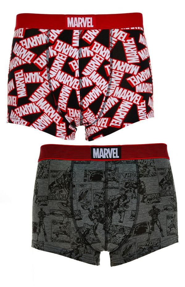 Marvel Printed Boxer Shorts 2 Pack