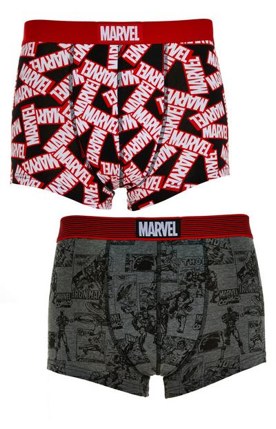 Lot de 2 boxers à imprimé Marvel