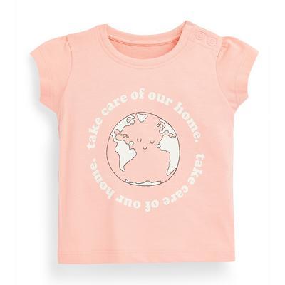 Baby Girl Pink Blush Earth T-Shirt