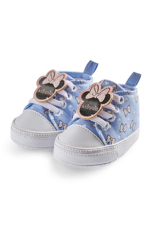 Baskets montantes bleues en chambray Disney Minnie Mouse bébé fille