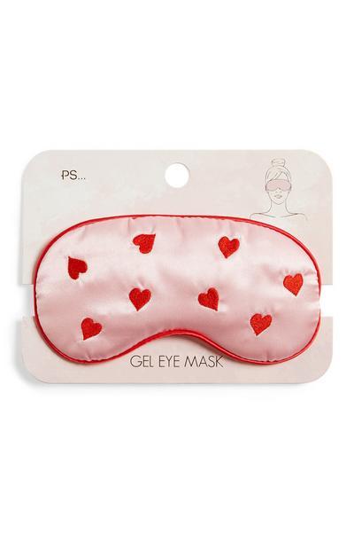 PS Pink Heart Pattern Gel Eye Mask