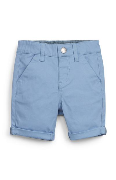Modre fantovske kratke hlače chino za dojenčke