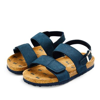 Younger Boy Navy Footbed Sandals
