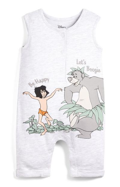 Baby Grey Jungle Book Sleeveless Romper Suit