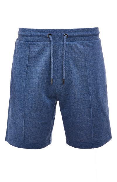 Navy Pique Tie Waist Shorts